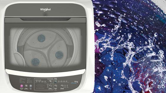 Lavadora Whirlpool de 18 Kg carga superior Blanca, con enjuague en 3 dimensiones que ofrece mejores resultados de limpieza y de eliminación de trazas de jabón. WWI18BBBLA - 881969078