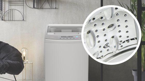 Lavadora Whirlpool de 12 Kg carga superior Gris, con detalle del interior de la tina construída en acero inoxidable y con labrado especial para un mejor cuidado de tus prendas. WWI12ASGLA - 881969079