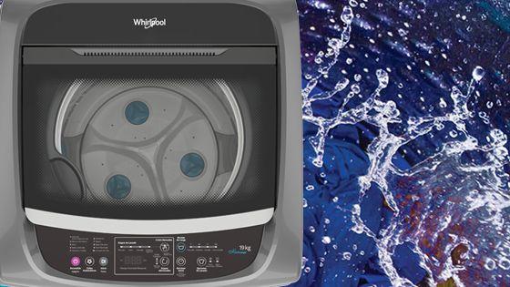 Lavadora Whirlpool de 16 Kg carga superior Gris, con en juague en 3 dimensiones que ofrece mejores resultados de limpieza y de eliminación de trazas de jabón. WWI16BSBLA - 881969082