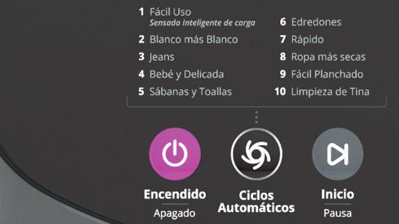Opciones de 10 ciclos automáticos en el panel digital. Lavadora Whirlpool de 19 Kg carga superior Gris. WWI19BSBLA - 881969084