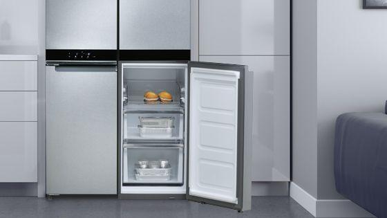 Refrigeradora Whirlpool French Door Bottom Mount Diseño exterior Quattro con opción Flexifreeze que evita quemaduras por congelamiento en los alimentos. WQ9B1L - 881969085