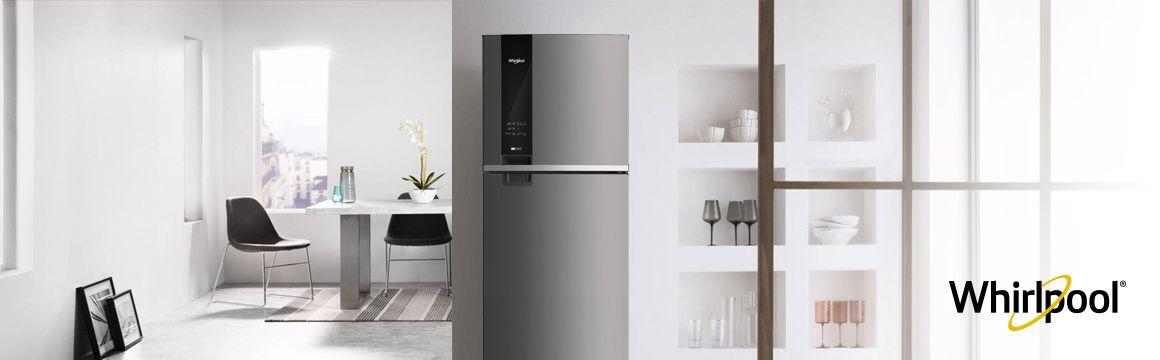 Refrigeradora Whirlpool Top Mount. Panel digital en puerta de 400 Litros de capacidad. WRM45AKBPE - 881976435