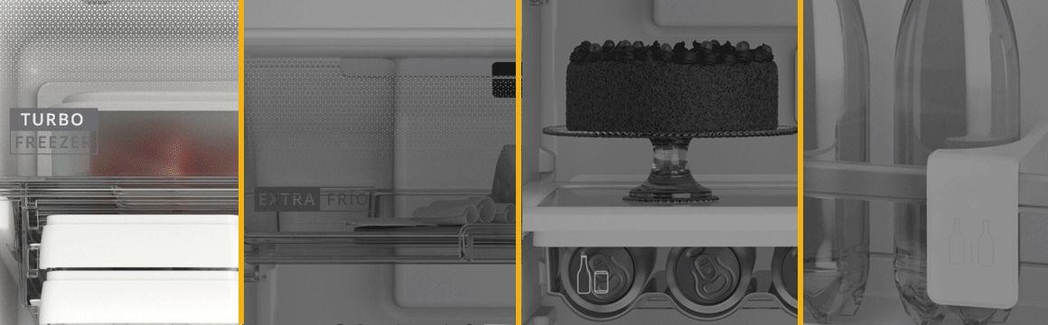 Refrigeradora Whirlpool Top Mount 400 Litros con Anaqueles especializados.Turbo Frezeer, Extra Frío, Cajón para Latas y Botellas, Separador y sujetador de Botellas en la puerta. WRM45AKBPE - 881976435