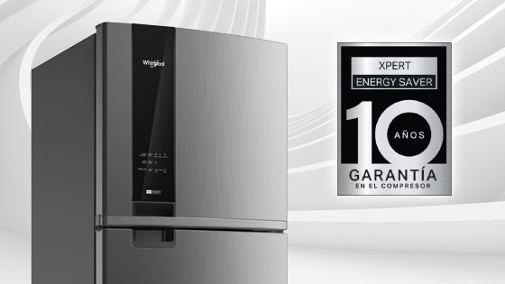 Refrigeradora Whirlpool Top Mount. Panel digital en puerta de 500 Litros de capacidad. Anaqueles móviles y flexibles que mejoran la adaptabilidad de espacios. WRM57AKBPE -  881976437