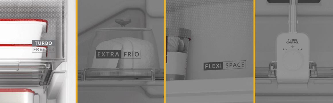Refrigeradora Whirlpool Top Mount 500 Litros con Anaqueles especializados. Turbo Frezeer, Extra Frío, Cajón para Latas y Botellas, FlexiSpace y Turbo Control. WRM57AKBPE -  881976437