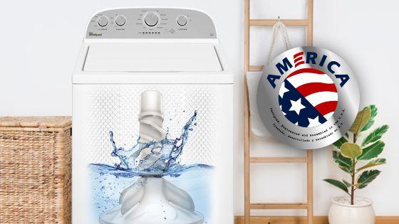 Lavadora Whirlpool carga superior 15 Kg color Blanco hecha en Estados Unidos. 4GWTW3000FW - 881976439
