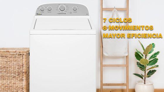 Lavadora Whirlpool carga superior 15Kg color Blanco. 4GWTW3000FW - 881976439