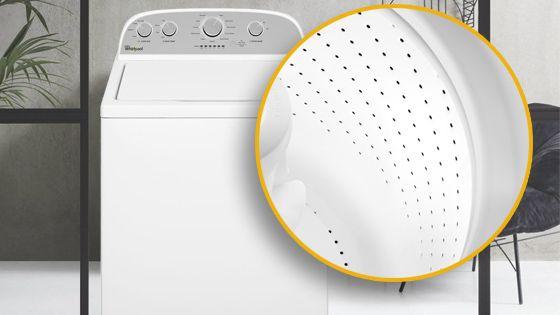 Lavadora Whirlpool carga superior 15 Kg color Blanco con Tina de acero porcelanizado reforzado con tres capas y superficie ultra lisa para proteger tus prendas del desgaste. 4GWTW3000FW - 881976439