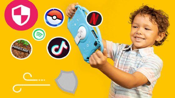 Al igual que los sitios web, desbloquea las aplicaciones que consideres pertinentes o seguras para el uso protegido de la Tablet Lite en tus hijos.