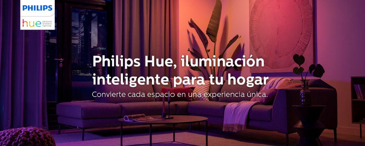 Philips Hue iluminación inteligente para tu hogar.