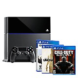 Combo Sony: Consola PS4 500GB Uncharted Collection + 2 Juegos