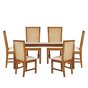Juego de comedor austral con 6 sillas