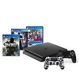 Consola PS4 Slim + 2 controles+ 3 juegos