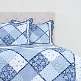Quilt Patch con Sherpa Azul