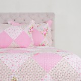 Quilt Patch con Sherpa Rosa