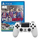 Control DUALSHOCK 4 Blanco + Juego PS4 PES 2017