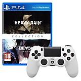 Control DUALSHOCK 4 Blanco + Juego PS4 Heavy Rain Y Beyond