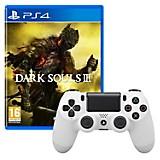 Control DUALSHOCK 4 Blanco + Juego PS4 Dark Souls 3