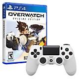 Control DUALSHOCK 4 Blanco + Juego PS4 Overwatch