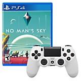 Control DUALSHOCK 4 Blanco + Juego PS4 No Man's Sky