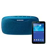 Tablet + Parlante azul