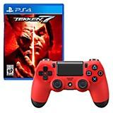 Control PS4 Rojo + Juego PS4 Tekken 7