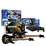 Consola PS4 Hits Bundle (3 juegos) + Juego PS4 Guitar Hero + 2 guitarras Hero