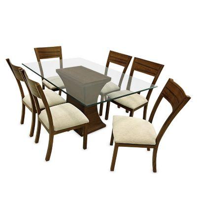 Juego de comedor mica jussara 6 sillas for Juego comedor pequea o