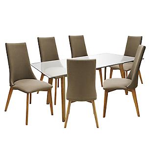 Juego de Comedor Isaac con 6 sillas