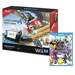Combo: Consola Wii U Mario Kart 8 + Super Smash