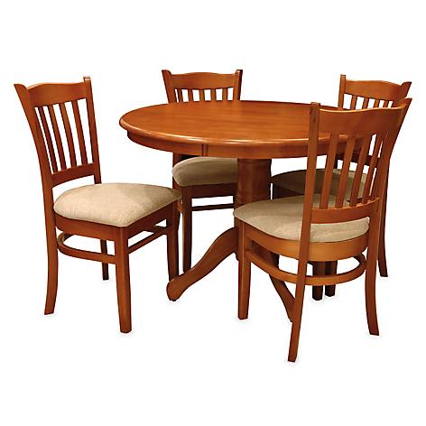 Juego de comedor roberta allen moonlight 4 sillas for Sillas para comedor redondo