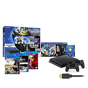 Consola PS4 Slim+ 2 mandos DS4 + 7 juegos + Membresía 3 meses + HDMI adicional