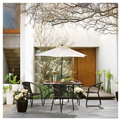Comedor aluminio polywood 9 piezas for Sodimac terrazas chile