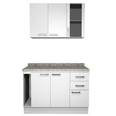 Kit mueble cocina 120 cm bianco for Muebles de cocina en kit online