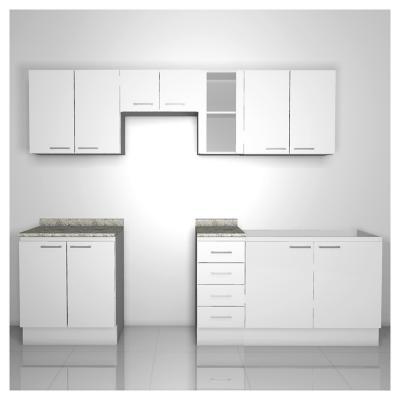 Kit mueble cocina 265 cm bianco for Muebles de cocina kit