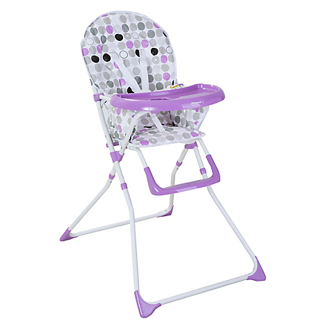 Silla de Comer Plegable Simple Rosa