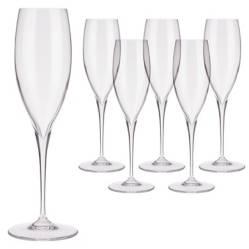 Set 6 Copas Champagne Premium Cristal Glass