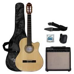 Set Guitarra Electroacústica + Amplificador 14 Set Mac01