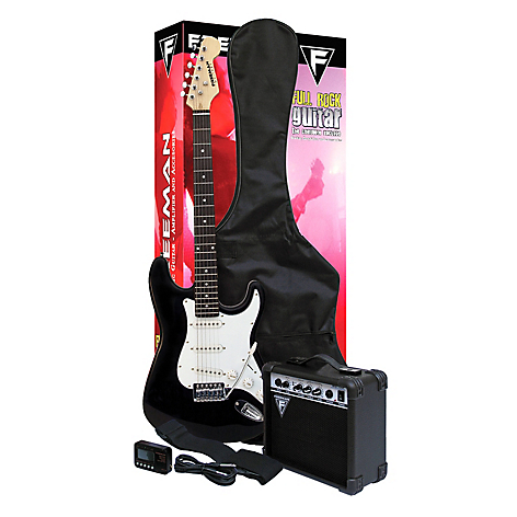 Freeman Guitarra Eléctrica Full Rock Bk Negro