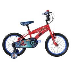 Mountain Bike Aro 16 Spiderman Rojo