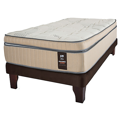 Cama Europea Maximo Cobre 1,5 Plazas Base Normal