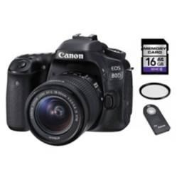 Eos 80d 18-55mm + SD 16 gb + control + UV