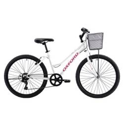Bicicleta Luna 6V Blanco Rosado Aro24