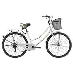 Bicicleta   Cyclotour 6V M Plata Amarillo Aro26