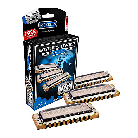 Set 3 Armónicas Hohner Blues Harp Pack (Do, Sol Y