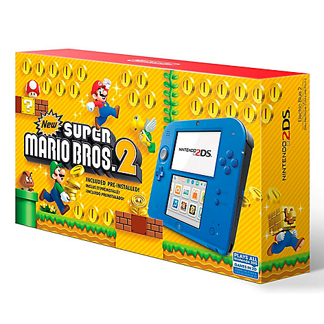 Consola 2DS Electric Blue-Super Ma
