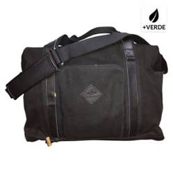Bolso Lively Up Leather Overnighter Black