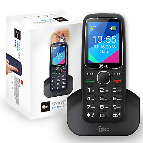 Celular Senior Slim SOS + Mini Parlante Bluetooth