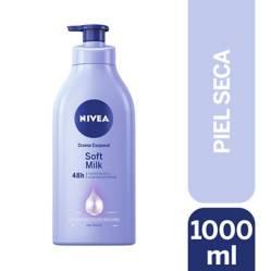 Crema Corporal Nivea Soft Milk Piel Seca 1000Ml