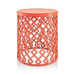 Mesa Lateral Lattice Naranja Pequeña